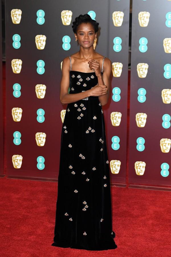 Letitia Wright no BAFTA (Foto: Getty Images)