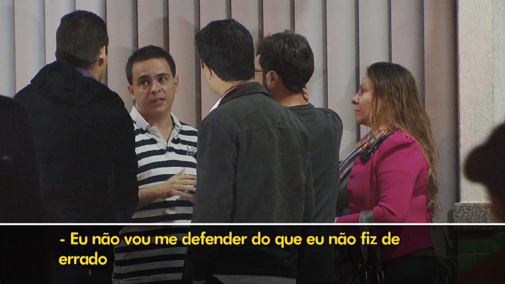 Policial que atirou no trânsito diz que não fez nada de errado (Foto: TV Globo/Reprodução)
