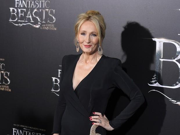 J.K. Rowling em première de filme em Nova York, nos Estados Unidos (Foto: Angela Weiss/ AFP)