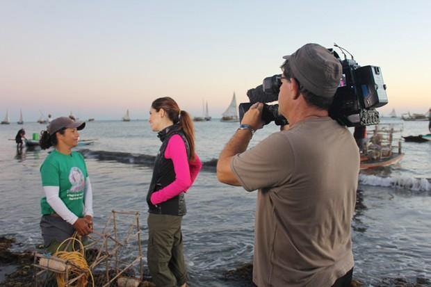 Poliana Abritta navega pelo Ceará no Globo Mar desta quinta, dia 20/06 (Foto: Divulgação/TV Globo)