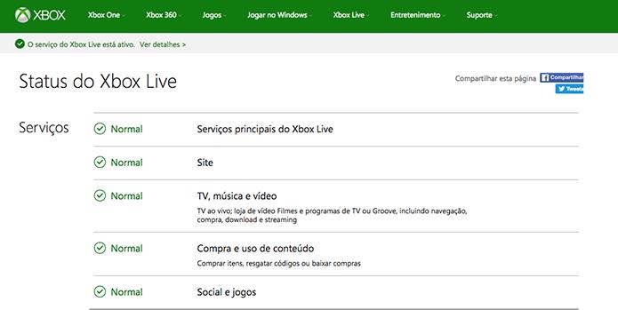 Confira no site oficial da Xbox Live (Foto: Reprodução/Murilo Molina)