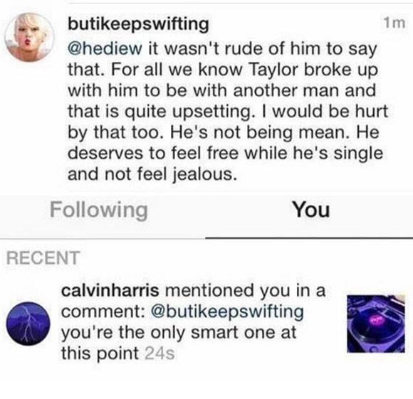 Calvin Harris agradece mensagem de apoio de f nas redes sociais (Foto: Reproduo/Instagram)