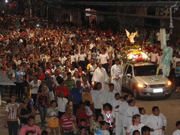 São esperadas cerca de 8 mil pessoas na procissão de São Miguel de Arcanjo, em Belém. (Foto: Cristino Martins/O Liberal)