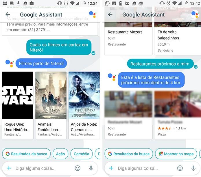 Google Assistant pode pesquisar por filmes e programas ao redor do usuário (Foto: Reprodução/Elson de Souza)