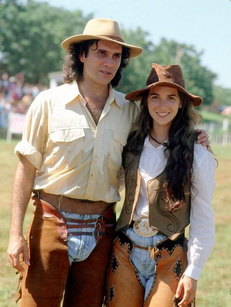 Com Almir Sater na novela (Foto: Arquivo)