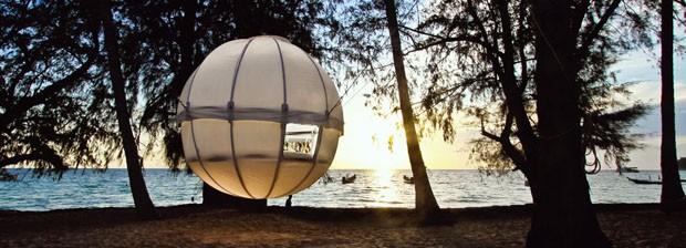 Uma casa na árvore móvel para campistas (Foto: Cocoon Tree/Reprodução)