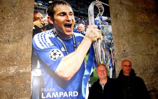 Cliff e Dave, torcedores do Chelsea (Foto: Cahê Mota / Globoesporte.com)