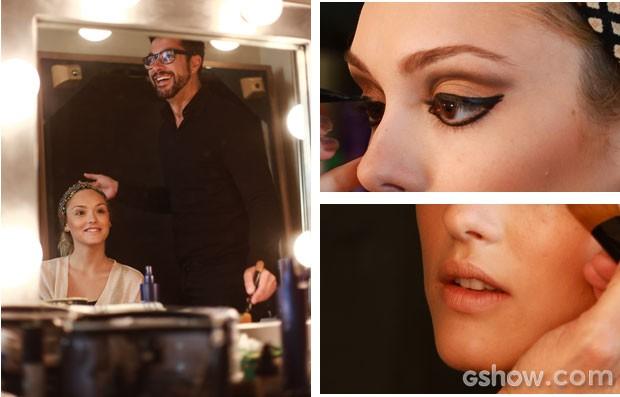 Make de Megan é superestiloso (Foto: Aline Kras/TV Globo)