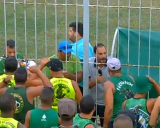 Thiago Alves, protesto da torcida do Boavista (Foto: Reprodução)