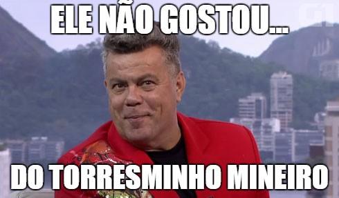 Sobre a perda de um décimo no quesito enredo pela Salgueiro, que falou sobre comida mineira (Foto: Reprodução/TV Globo)