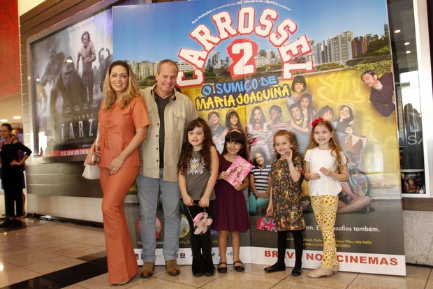 Tânia Mara em estreia do filme Carrosel (Foto: Marcos Ferreira /Brazil News)