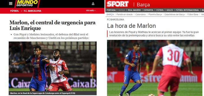 Marlon Barcelona imprensa catalunha (Foto: Reprodução)