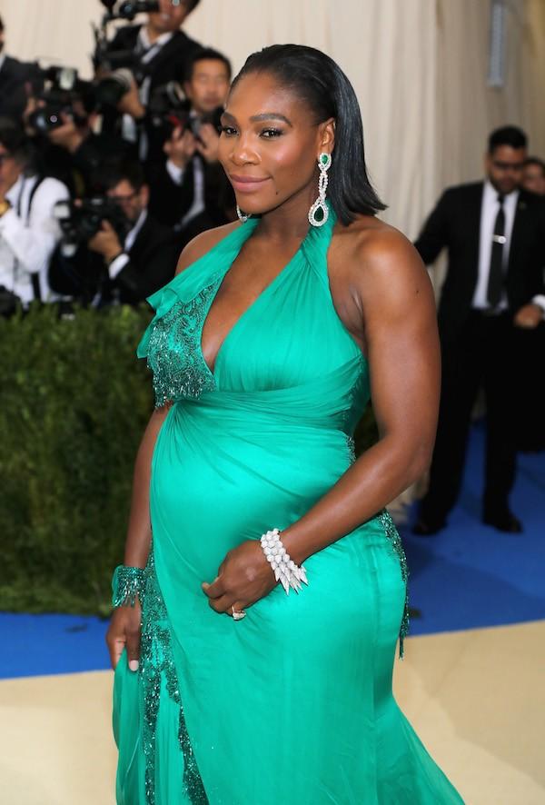 A tenista Serena Williams grávida (Foto: Getty Images)