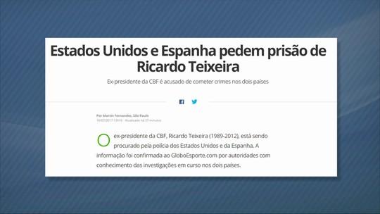 PGR informa a jornalista que Ricardo Teixeira deve ser processado no Brasil