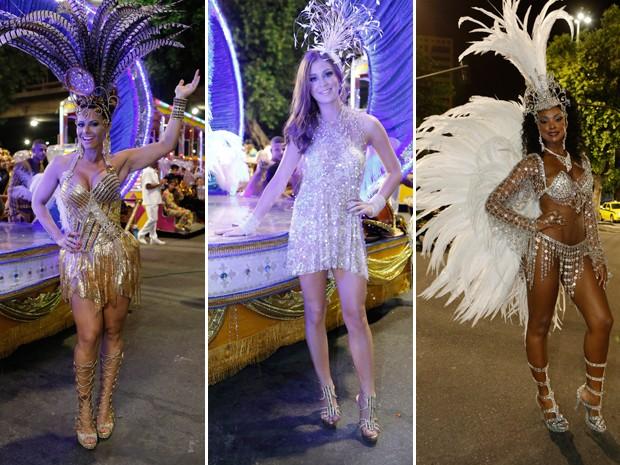 Viviane Araújo, Marina Ruy Barbosa e Cris Vianna brilharam no Carnaval de Império (Foto: Felipe Monteiro / Gshow)