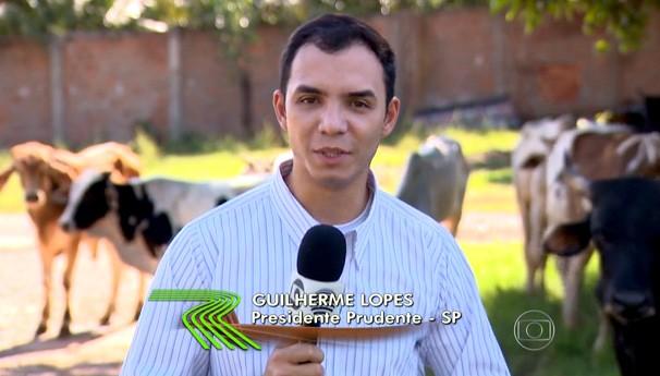 O repórter Guilherme Lopes apresentou a matéria exibida no Globo Rural (Foto: Reprodução/TV Globo)