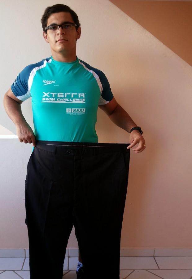 """Após emagrecer  50kg, mineiro engorda 40kg e, agora, luta para recuperar medidas: """"Já foram 30kg"""" (Foto: Arquivo pessoal)"""