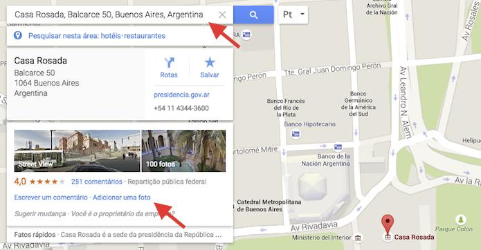 Acessando a ferramenta de upload de imagens do Google Maps pelo computador (Foto: Reprodução/Marvin Costa)