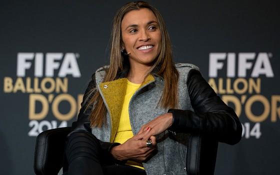 A jogadora Marta, em foto de 2014 (Foto: Philipp Schmidli/Getty Images)