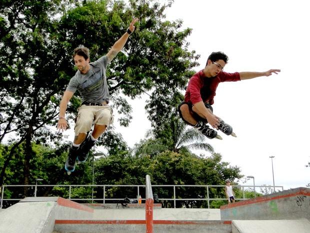 David Lucas e Danilo Sacramento treinam no Rio de Janeiro (Foto: Foto: Malhação / TV Globo)