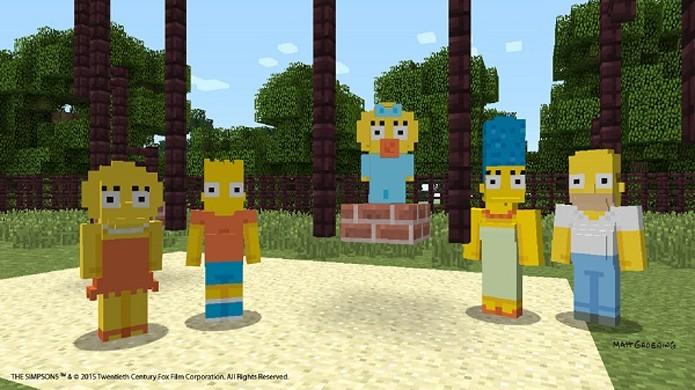 Os Simpsons irão chegar em Minecraft no final de fevereiro pra plataformas Xbox (Foto: Divulgação)