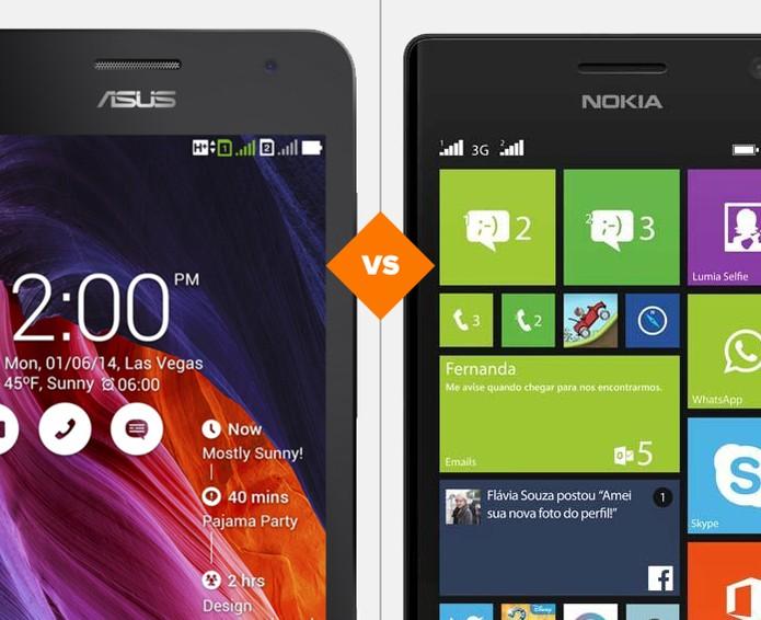 Zenfone 5 ou Lumia 730? Quem vence a batalha? (Foto: Arte/TechTudo)