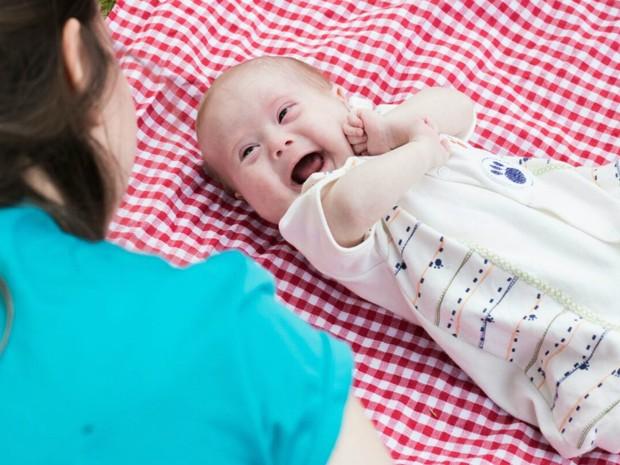Henri, com quatro meses, espera para realizar a cirurgia corretiva no coração (Foto: Carolina Heras/Arquivo Pessoal)