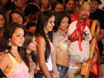 Rainha e Rei Momo do Carnaval de Canindé (SE) foram escolhidos na noite de abertura da folia (Foto: Divulgação)