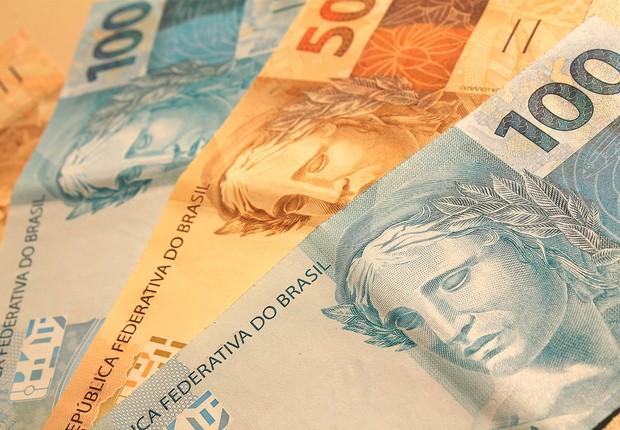 Notas de real : moeda brasileira; Banco Central;  (Foto: Shutterstock)