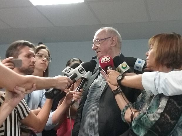 O sociólogo argentino Julio Jacobo Waiselfisz, durante coletiva em Brasília (Foto: Gabriel Luiz/G1)