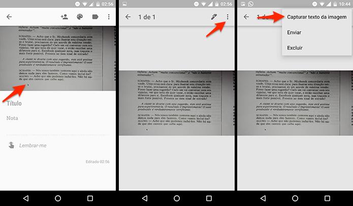 Capturando texto da imagem no Google Keep. (Foto: Reprodução/Alessandro Junior)