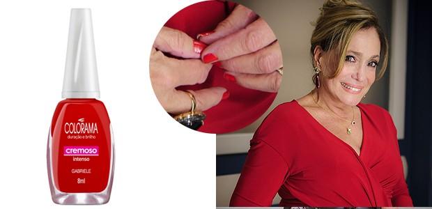 Susana Vieira usa um clássico da Colorama, o vermelhão Gabrielle (Foto: TV Globo/Divulgação)