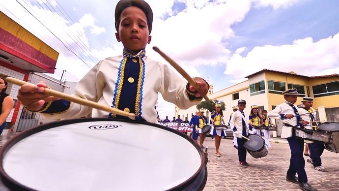 Banda de música fez a recepção do Rota em Campestre (Foto: André Luiz)