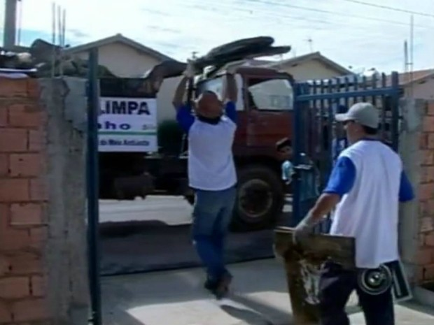 Cidade Limpa em Conchas (Foto: Reprodução TV Tem)