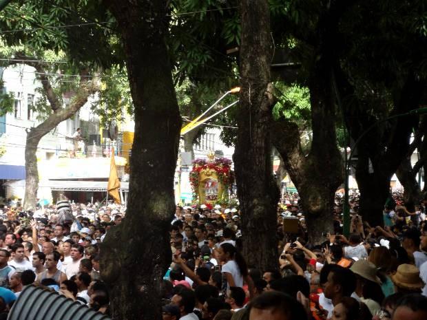 Cidade das mangueiras foi palco de uma das maioresfestas religiosas do mundo. (Foto: Gustavo Pena/ G1 PA)