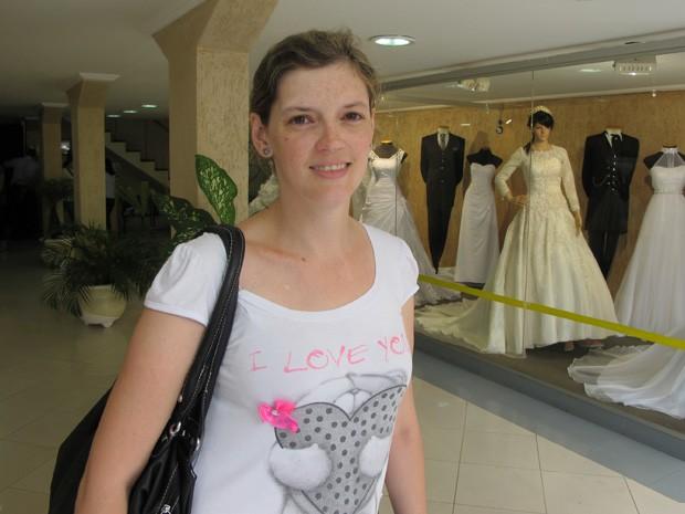 G1 Tive Um Frio Na Barriga Diz Noiva Que Teve Vestido