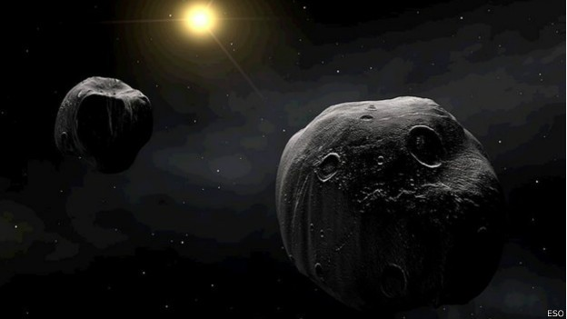 Imagem ilustrada do European Southern Observatory (Foto: BBC)