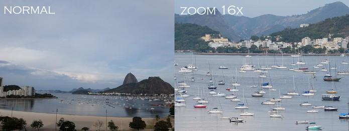 Zoom 16x foto tirada com a XQ1 (Foto: Luciana Maline/TechTudo)