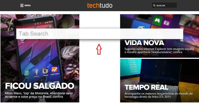 Chrome Tab Search no navegador (Foto: Reprodução/Marcela Vaz)