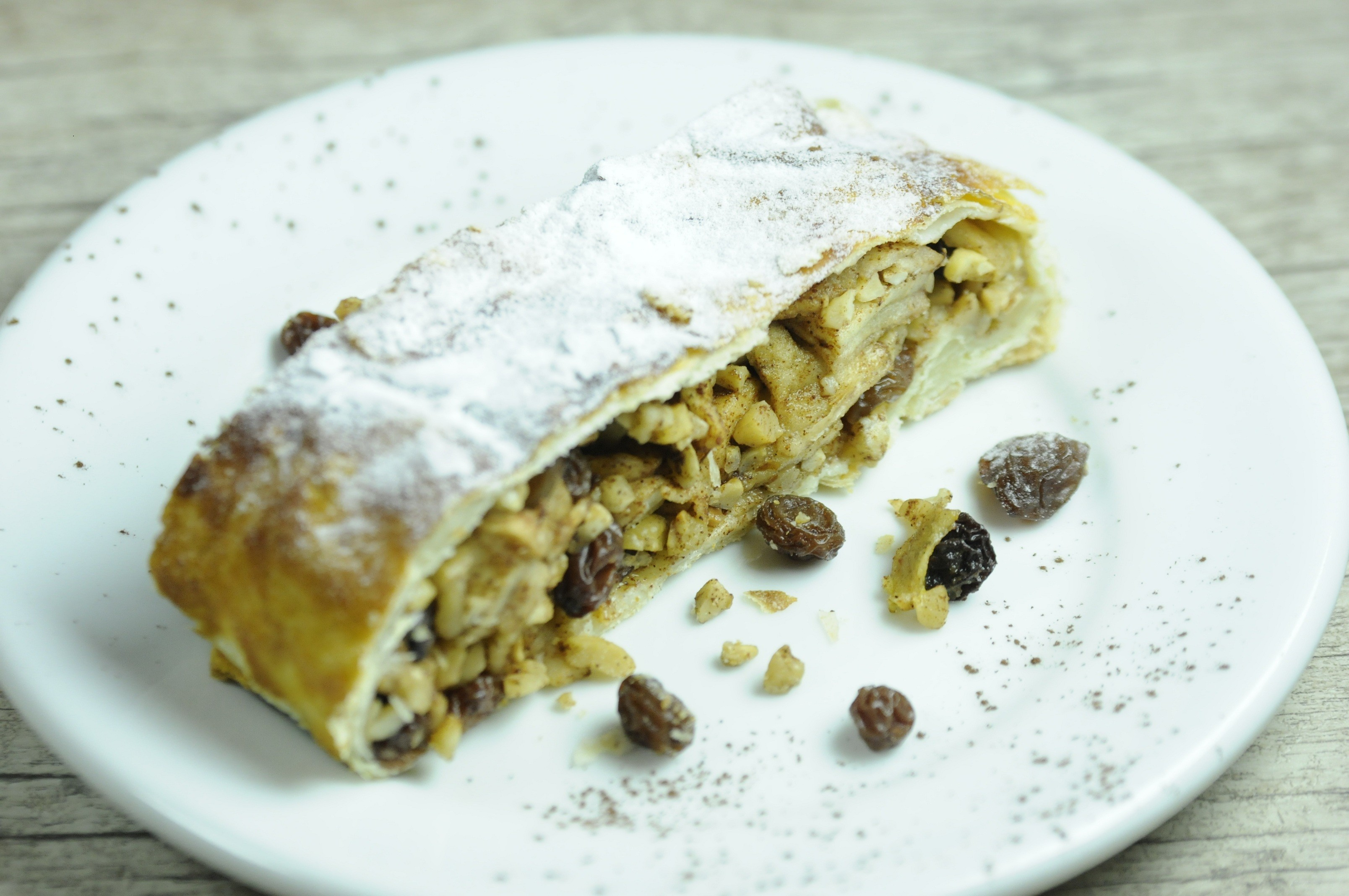 O strudel de maçã da Crema e Cioccolato Café (Foto: Marcello Almo)