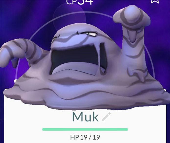 Muk em Pokémon Go (Foto: Reprodução/Felipe Vinha)