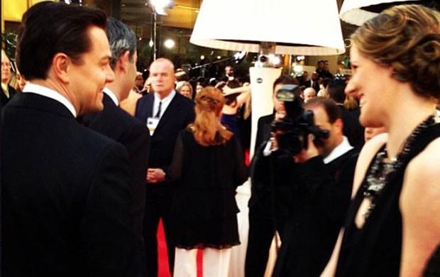 Missy Franklin e Leonadro Dicarpio, Prêmio Globo de Ouro (Foto: Reprodução / Instagram)