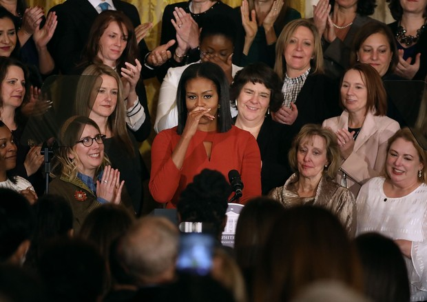 Michelle Obama quase chora em último discurso na Casa Branca (Foto: Getty Images)