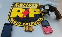 PM prende suspeitos com armas de fogo (Radiopatrulha/Divulgação)