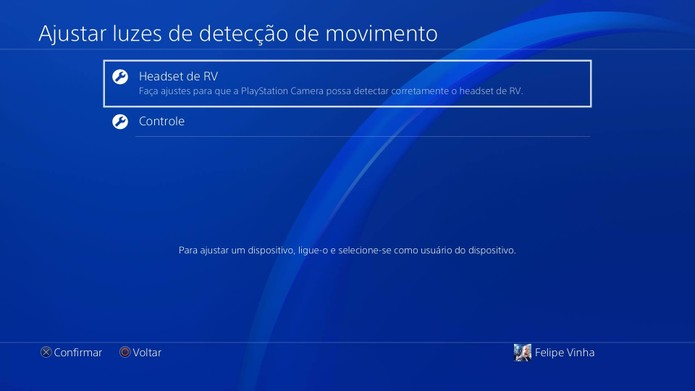 Como configurar e melhorar os gráficos e visual do PS VR (Foto: Reprodução/Felipe Vinha)