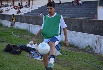 Rodrigão, atacante do São Francisco (Foto: Weldon Luciano/GloboEsporte.com)