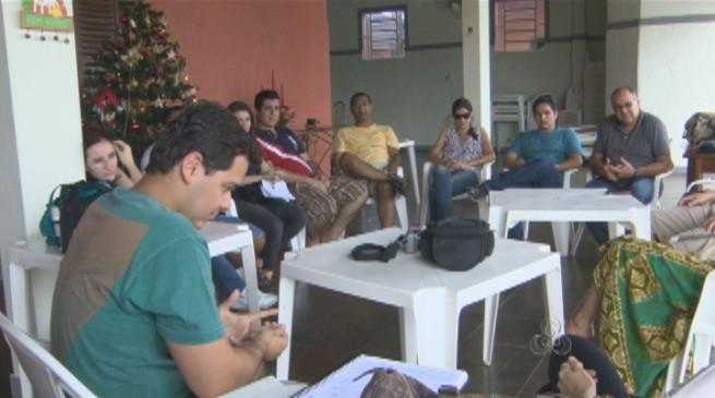 Alunos durante workshop e oficina de direção avançada (Foto: Amazônia TV)