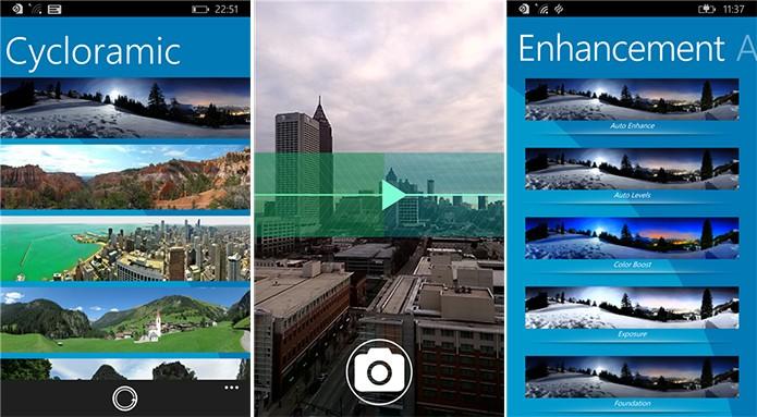 Cycloramic é um aplicativo para Windows Phone que ajuda a fazer belas fotos panorâmicas (Foto: Divulgação/Windows Phone Store)