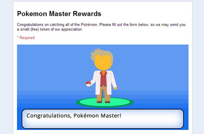 Google dará recompensas para Mestres Pokémon (Foto: Reprodução/Android Police)