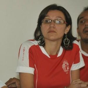 Bruna ao lado do lendário Amadeu Teixeira (Foto: Arquivo pessoal)